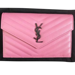 Saint Laurent Monogram Envelope Wallet on Chain with authencity card .