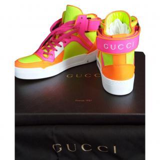 Gucci Yellow Fluo Matt Sneakers G38