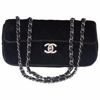 Chanel Black Timeless Velvet Handbag Limited Edition