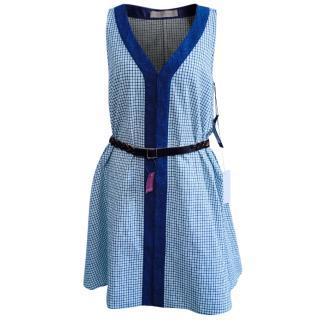 Proenza Schouler Cotton Check Print Dress