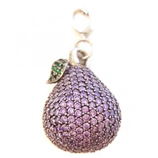 Italian Pave Pear Pendant 18ct Gold