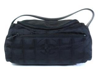 Chanel Canvas Black Vanity Cosmetic Bag