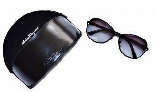 Salvatore Ferragamo Black Sunglasses