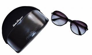 Salvatore Ferragamo Black Sunglasses