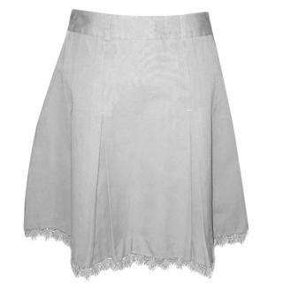Designers Remix Collection Grey Skirt with Lace