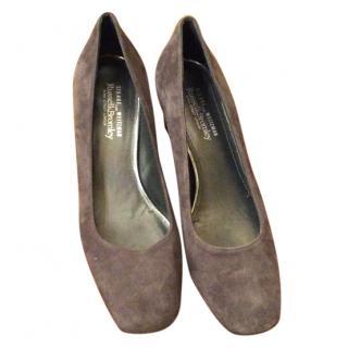 Stuart Weitzman Grey Suede Shoes