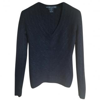 Ralph Lauren Black Label Cashmere V-Neck Jumper