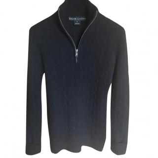 Ralph Lauren Black Label XS Black Cashmere Jumper