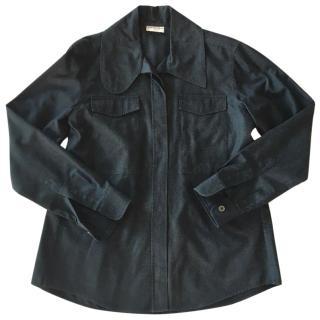 Dries Van Noten Black Cotton Shirt-Jacket