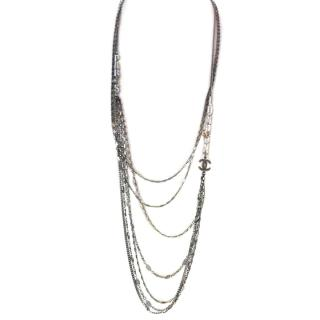 Chanel Multi Strand Crystal Necklace