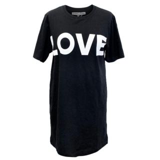 Katharine E Hamnett Black Love T-Shirt