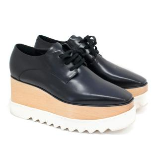 Stella McCartney Black Elyse Platform Lace-ups