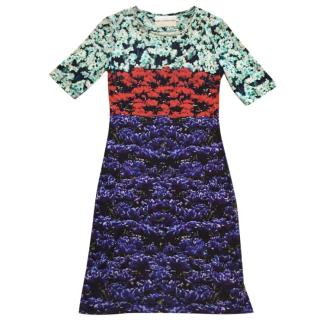 Mary Katrantzou Color Block Floral Dress
