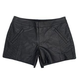 Club Monaco Black PU Shorts