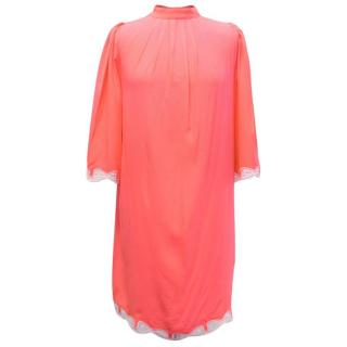 Zayan Neon Coral Shift Dress