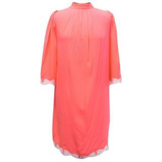 Zayan Neon Coral Shift Dress