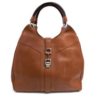 Tanner Krolle Tan Eva Leather Tote Bag