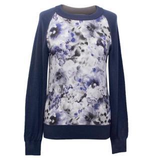 Beulah Blue Floral Jumper