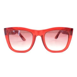 Retrosuperfuture Red Sunglasses