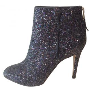 Sam Edelman Kourtney Coarse Glitter Ankle Boots.