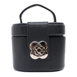 Tuscans Designs Black Leather Vanity Box