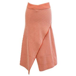 Jonathan Saunders Striped Asymmetric Midi Skirt