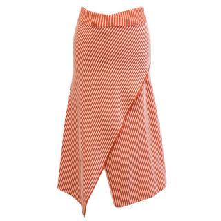 Jonathan Saunders Striped Asymmetric Midi Skirt