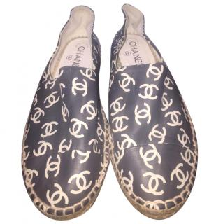 Chanel Espadrilles CC Printed Logo Shoes