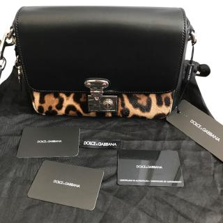 Dolce & Gabbana Miss Linda Calf Hair & Leather Shoulder Bag