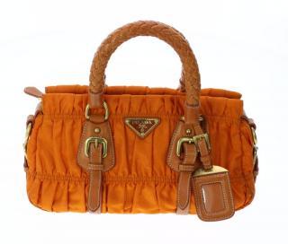 Prada Gaufre Orange Canvas Bag