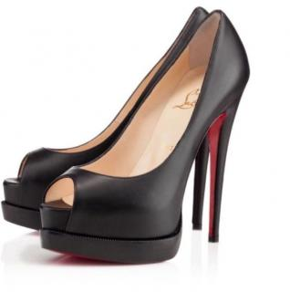 Christian Louboutin Palais Royal Trepointe 140 Calf Black Heels