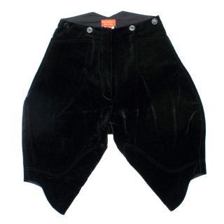 Vivienne Westwood Red Label Black Velvet Shorts