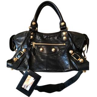 Balenciaga Black Leather Giant 21 Studded Bag