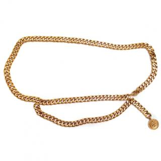 Chanel Gold Plated Vintage Chain Belt