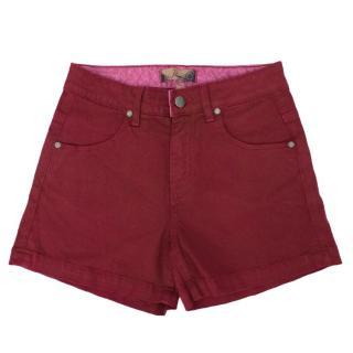 Paige Raspberry High Waist Shorts