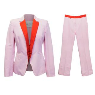 Vionnet Pink and Red Faille Suit
