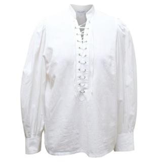 Paul & Joe White Laced Shirt