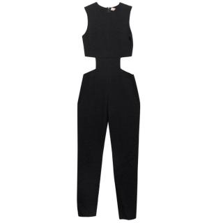Vicedomini Black Mesh Panel Jumpsuit