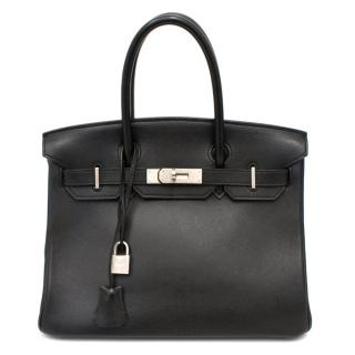 Hermes Black Swift Leather 30cm Birkin