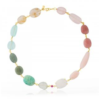 Tous Ethereal Gemstone Necklace 18ct Gold RRP �1800
