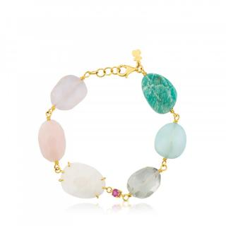 Tous Ethereal Gemstone Bracelet 18ct Gold RRP �710