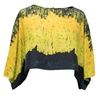 Vionnet Print Cape Crop Top