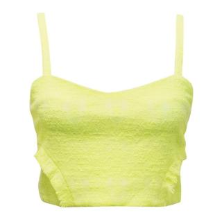 Alexis Neon Yellow Crop Top