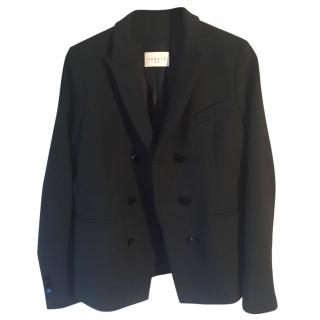 Sandro black double breasted tailored jacket