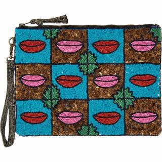 Essential Antwerp Sequin Lips Clutch/Pouch/Bag