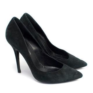 Giuseppe Zanotti For Balmain Black Suede Heels