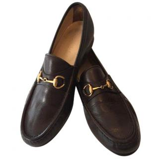 Gucci Brown Leather Flats