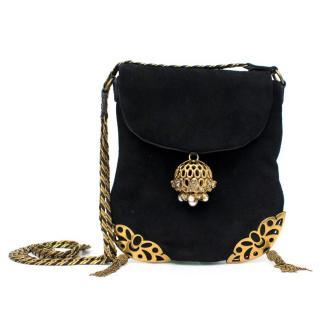 Chloe Black Suede Shoulder/Crossbody Bag