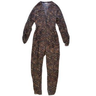 Ronny Kobo Silk Patterned Jumpsuit