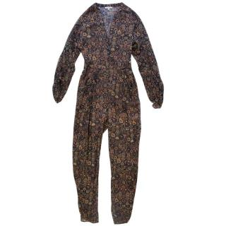 Ronny Kobo Silk Patterned Jumpsuit